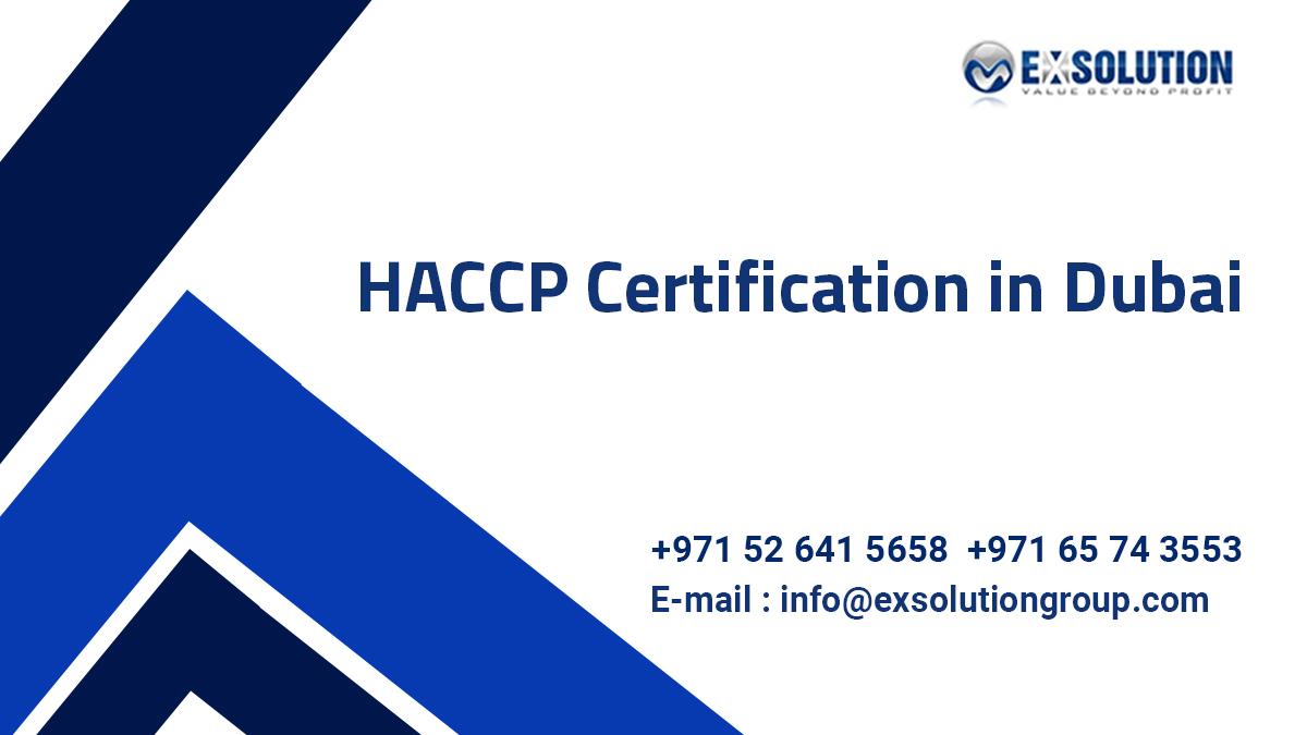 HACCP Certification in Dubai