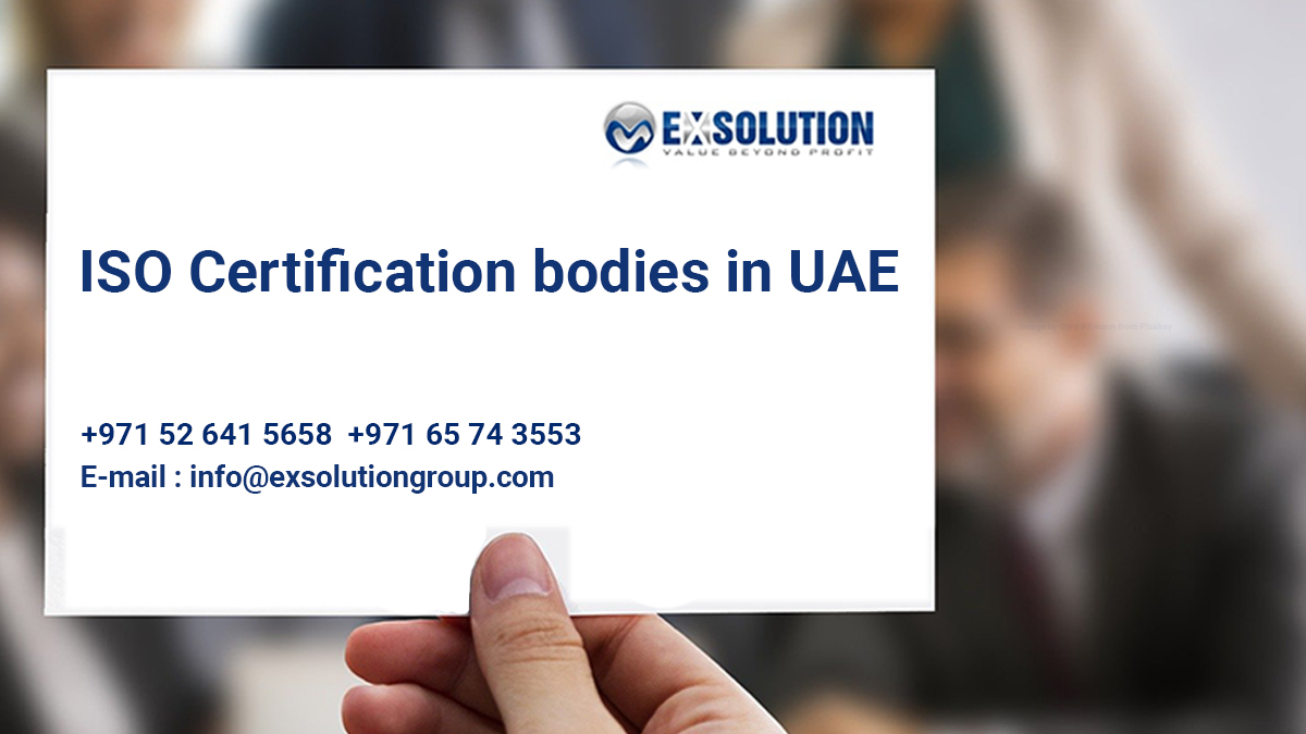 ISO certification bodies in UAE
